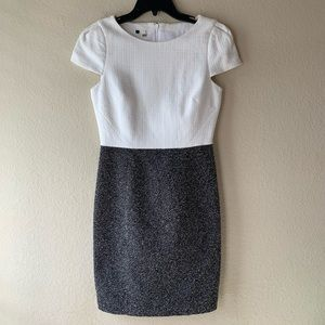 ANTHROPOLOGIE 4C Tweed Cap Sleeve Dress
